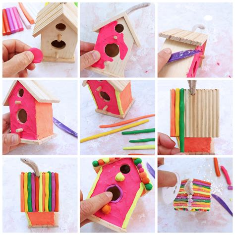 art project  kids clay house tutorial step  step