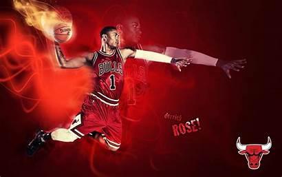 Derrick Rose Wallpapers Bulls Dunk Basketball Chicago