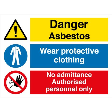 wear protective clothing asbestos signs  key signs uk