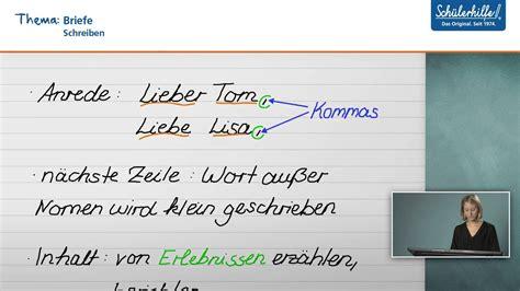 briefe schreiben deutsch schuelerhilfe lernvideo