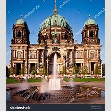Berlin Cathedral Berliner Dom Famous Landmark Stock Photo