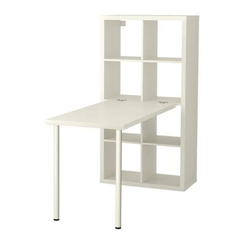 bureau design ikea kallax desk combination white ikea
