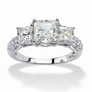 306 tcw princess cut cubic zirconia engagement With anniversary wedding rings