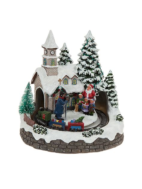 animatronic christmas decorations animated led house