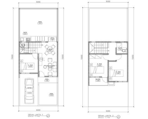 contoh gambar denah rumah tipe  nulis