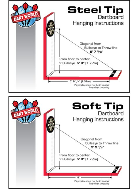 tip dart board regulations dartboard height and hanging