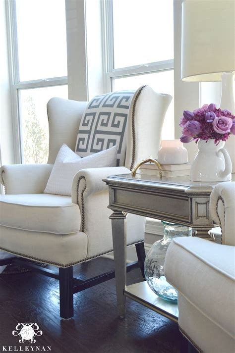 livingroom chair pottery barn upholstered thatcher wingback chair in living