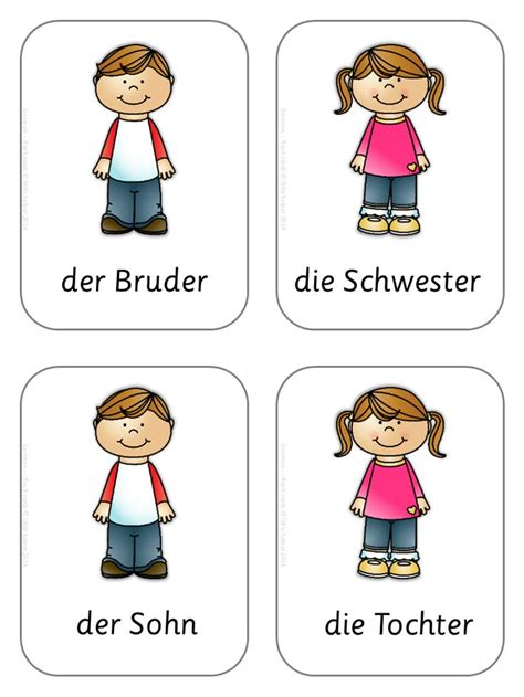 German Flash Cards  Basic Vocabulary  The O'jays, Daughters And Sisters
