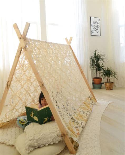 Tipi Für Kinderzimmer Selber Bauen by 19 Spielerische Diy Zelte F 252 R Kinder Gorgeous Interiors