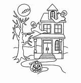 Haunted Coloring Pages Printable Dollhouse Halloween Colouring Bestcoloringpagesforkids Drawing Awesome Print Getdrawings Christmas Disney Example Draw sketch template