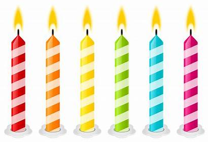 Birthday Candles Clipart Vector Candle Cake Transparent