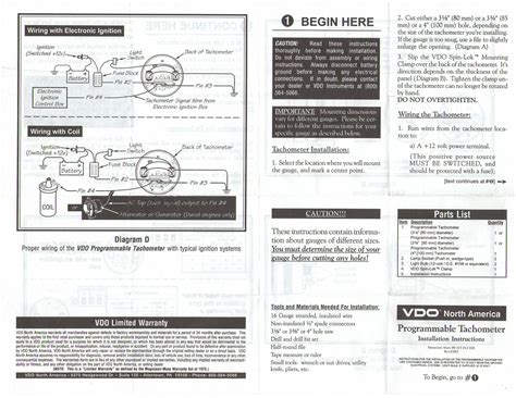 Vdo Tach Wiring Diagram by Boat Wiring Diagram For Tachometer Fuse Box And