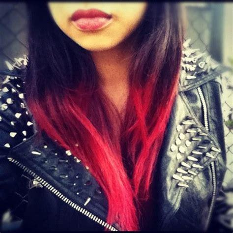 des idees de dip dye hair pour cheveux fonces