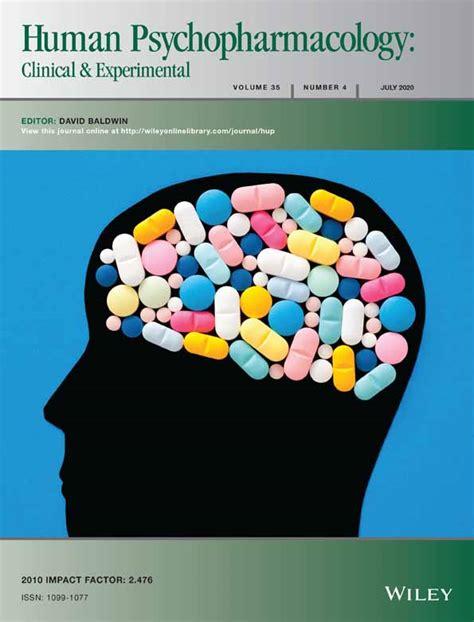human psychopharmacology clinical  experimental