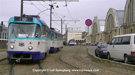 Riga Tramways, Latvia, part 3 of 7. Tramvaji Rīgā - YouTube