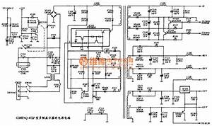 The Power Supply Circuit Diagram Of Compaq 472p Multi