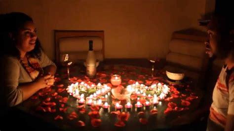 The perfect first date ideas. Romantic Dinner Surprise!!! | Romantic surprises for him ...