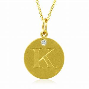 initial necklace letter k diamond pendant with 18k yellow With letter k necklace gold