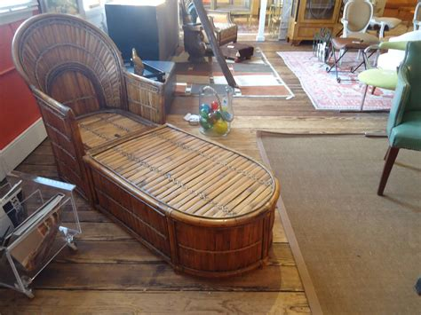 chaise style deco bamboo deco style chaise lounge at 1stdibs