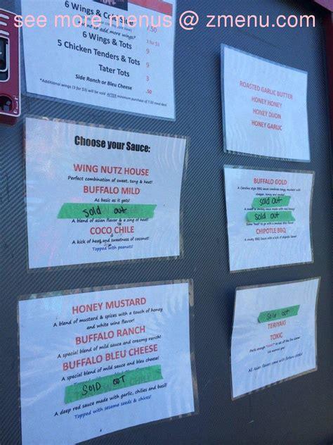menu  wing nutz food truck restaurant earth city