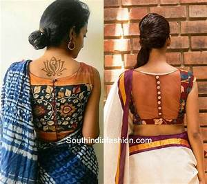 Kalamkari blouse designs that will leave you awestruck! South India Fashion