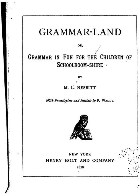 waldorf 4th grade grammar grammar land book free