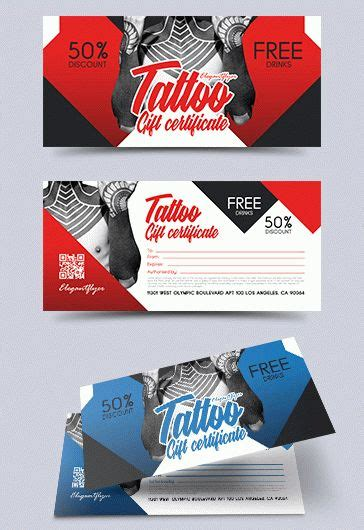 tattoo gift voucher  elegantflyer