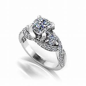 three stone designer engagement ring jewelry designs With wedding ring maker