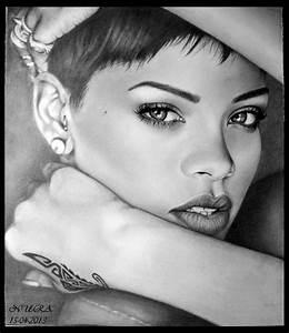 Rihanna Drawing by diamondnura on DeviantArt