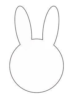 printable bunny template  printabletreatscom easter printables bunny templates easter