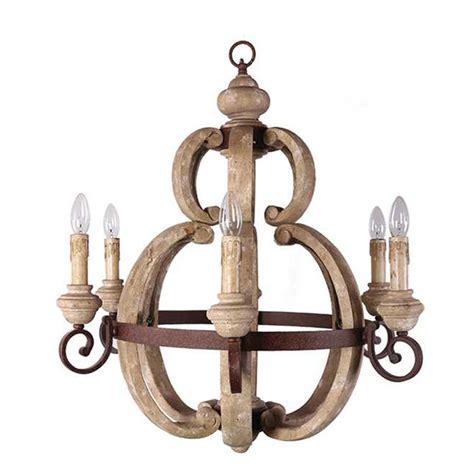 creative co op wood metal chandelier da4688