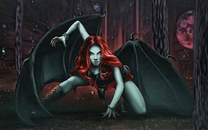 Vampire Female Demon Vampires Fantasy Artwork Redhead