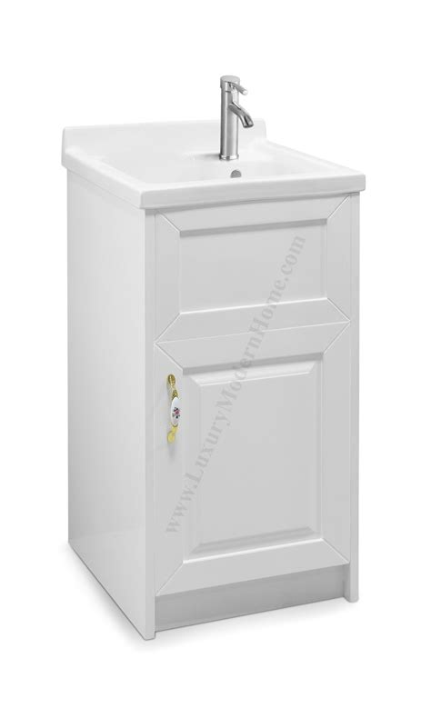 small utility sink with cabinet 18 quot small white laundry utility sink