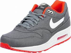 Nike Air Max 1 shoes grey neon orange