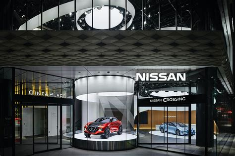 nissan crossing experience center architizer