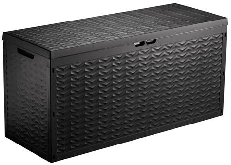 storage outdoor box garden patio chest plastic lid