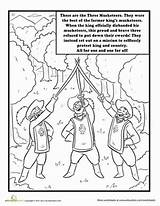 Musketeers Three Coloring Worksheet Government Education Branches sketch template