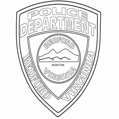 Badge Police Coloring Pages Template Badges Fbi