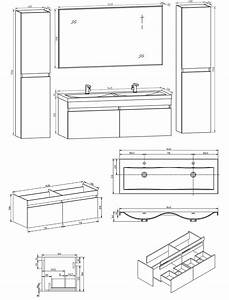 hauteur standard meuble cuisine interesting good taille With profondeur meuble salle de bain standard