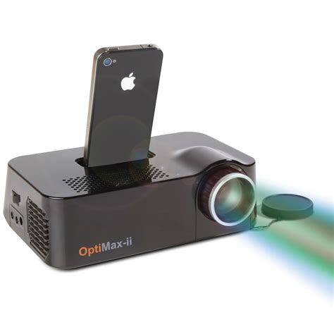 iphone projector the iphone projector hammacher schlemmer