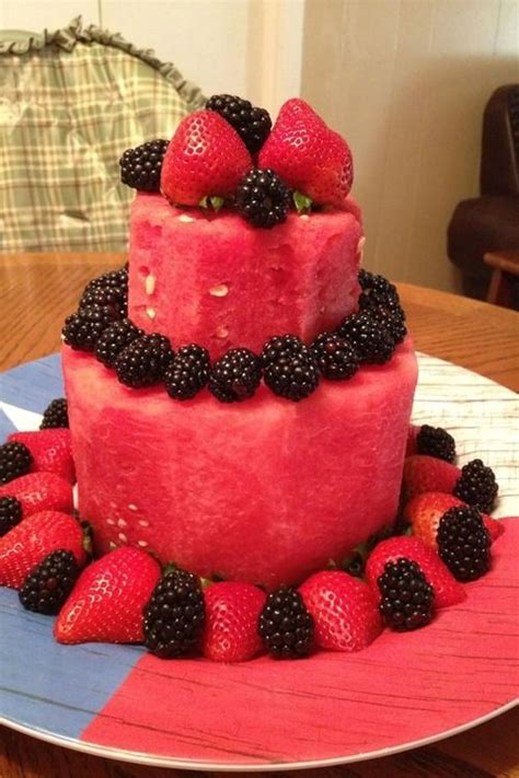 Cakes Decorated With Fruit by Best 25 Fruit Cake Watermelon Ideas On