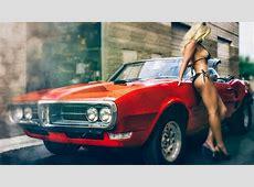 Wallpaper model, blonde, long hair, women with cars