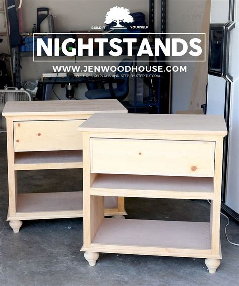 build diy nightstand bedside tables woodworking