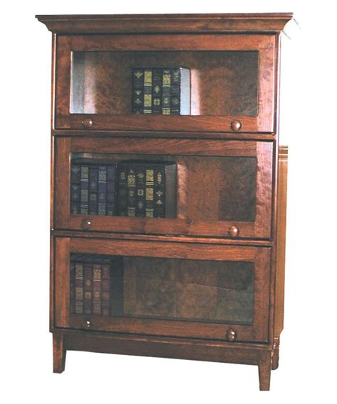 solid wood bookcase amish shaker barrister solid wood bookcase