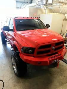 Red Lifted Dodge Diesel Trucks