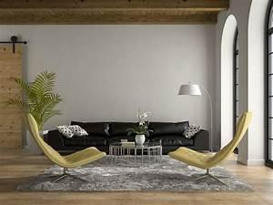 Sofa Sessel Kombination : schwarze sofas wohnzimmer motto black is back ~ Michelbontemps.com Haus und Dekorationen
