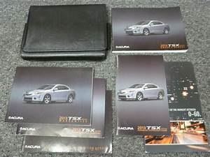 2013 Acrua Tsx Sedan Wagon Owner Manual User Guide Special