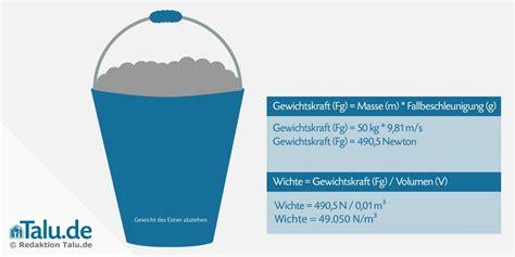 spezifisches gewicht von beton arten berechnen talude