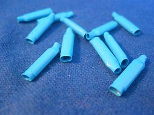 250x B Connectors Alarm Wire Crimp Dolphin Style Clips Wet Blue Gel Beanies