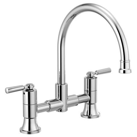 Kitchen Faucets Two Handle by P2923lf Two Handle Bridge Kitchen Faucet